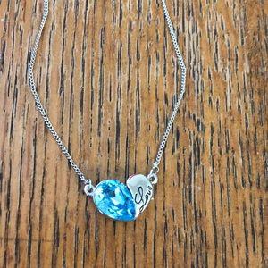 """Sterling Silver """"love"""" gem necklace"""